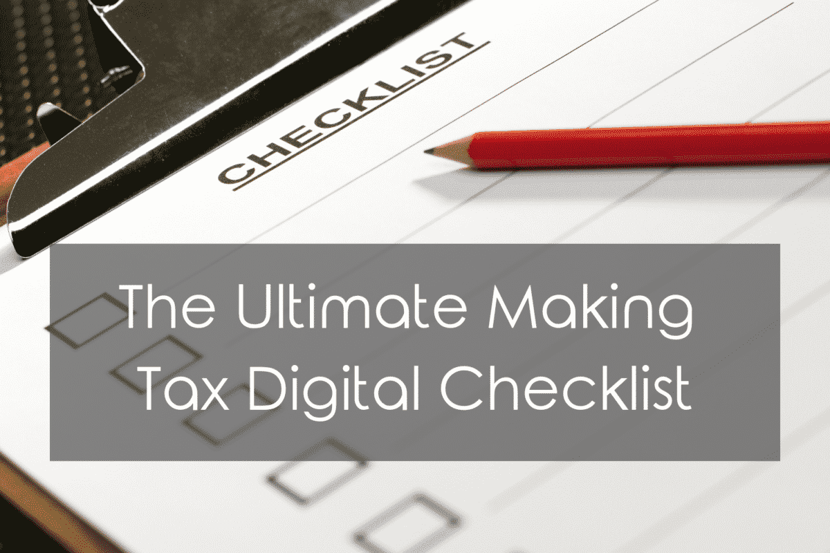 Making Tax Digital Checklist
